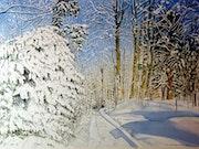 L'hiver au Québec.