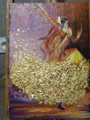 Danseuse Espagnol a la robe D'or.