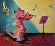 «Symphonie en couleur» de la Collection « Les Chats`Oeuvres ».
