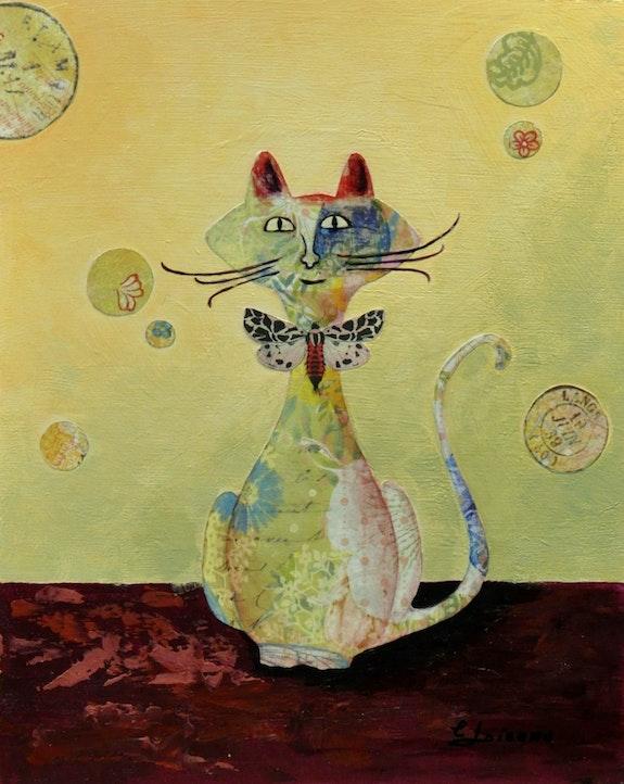 « Chapillon » de la Collection « Les Chats`Oeuvres ». Carmen Loiseau Carloi