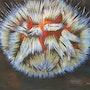«L'oursin» Huile au pinceau sur toile de lin. Nad'ev