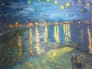 La nuit etoilee d'apres van gogh, arles, 1888. Wallace Waide