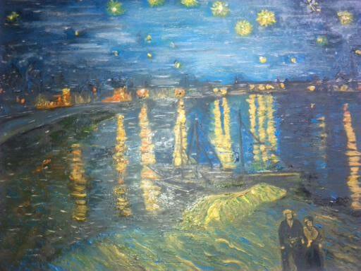 La nuit etoilee d'apres van gogh, arles, 1888. Wallace Waide Wallace Waide