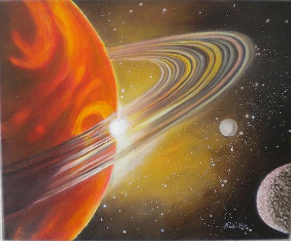 «La Planète» Huile au pinceau sur toile de lin. Nad'ev Nad'ev