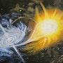 «La Comète» Huile au pinceau sur toile de lin. Nad'ev