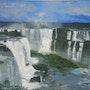 «Chûtes d'Iguaçu» huile au pinceau sur toile de lin. Nad'ev