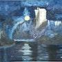 «Les Ténèbres» huile au pinceau sur toile de lin. Nad'ev