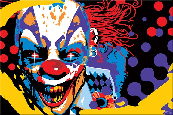 Bad Clown smiles. Ray Lengele Carayboo