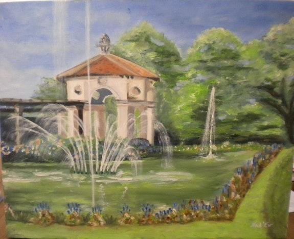 «Gloriette» huile au pinceau sur toile de lin. Nad'ev Nad'ev