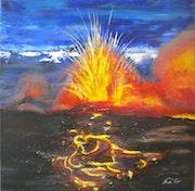 «L'explosion» Acrylique.