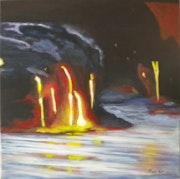 «La Coulée» Acrylique.