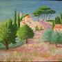 «Village Provençal» Acrylique. Nad'ev