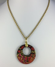 Happy Flowers pendant necklace. Emcee Jewelry