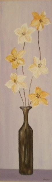 «Vase aux Lis» Acrylique.