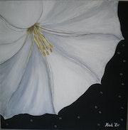 «Cœur de Datura» Acrylique.