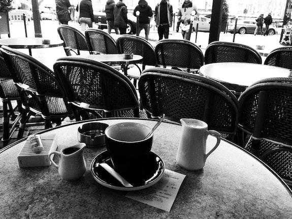 Chocolat chaud à l'ancienne - Bistrot parisien - Janvier 2017. Anne Verron Anne Verron