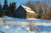 La grange en hiver.
