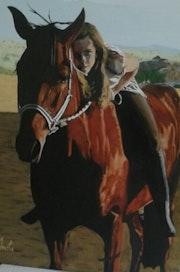 Marta y su caballo.