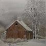 Grange en hiver. Jacques Bouquet