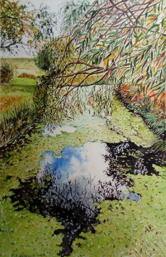 L'automne dans l'étang du Docteur c. Françoise-Elisabeth Lallemand Françoise-Elisabeth Lallemand