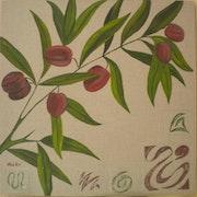 «Rameau d'Olives» Acrylique.