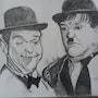 Le Duo comique Stan Laurel & Oliver Hardy.