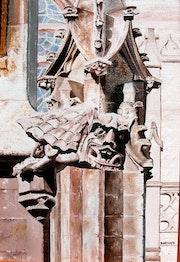 Gargouille sur la cathédrale de Seville.