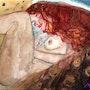 La femme a la crinière rousse (un air de Klimt). Marie-Noel Toulon
