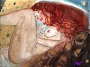 La femme a la crinière rousse (un air de Klimt).