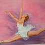 «Danseuse Grand Jeté» Acrylique.
