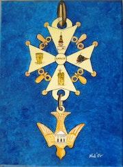 «Croix Huguenote» Acrylique.