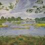 «Hameau du Lac» Aquarelle. Nad'ev
