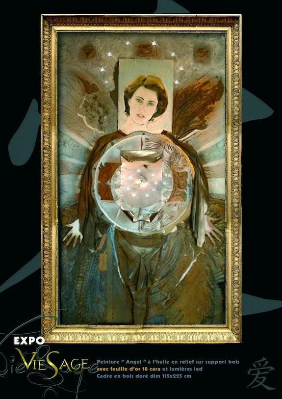 Angel caisson 3d peinture & sculpture. Georges Couchard Jojodedolhain