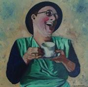 Tea Time Lady from Cambridge. John Atkinson