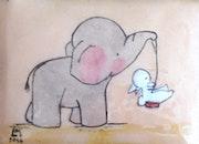 Balançoire éléphant-lapin.