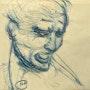 Colère inspiré «Dessin pour la Bataille d'Anghiari» Leonard de Vinci. Mylène Caïe-Bertin