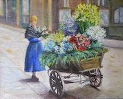 La petite marchande de fleurs.