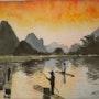 «Baie d'HAlong» Aquarelle. Nad'ev