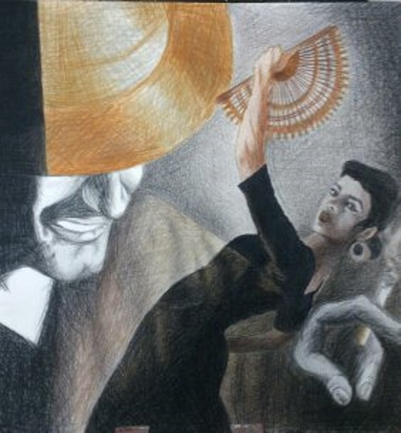 El gitano y la flamenca. Encarna Mota Emota