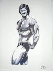 Mike Mentzer, champion culturiste americain des années 70.