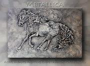 Metallica - Modern Acryl Impasto Art - Metallic Art - Abstract Painting Knife -. Katina-Fineart