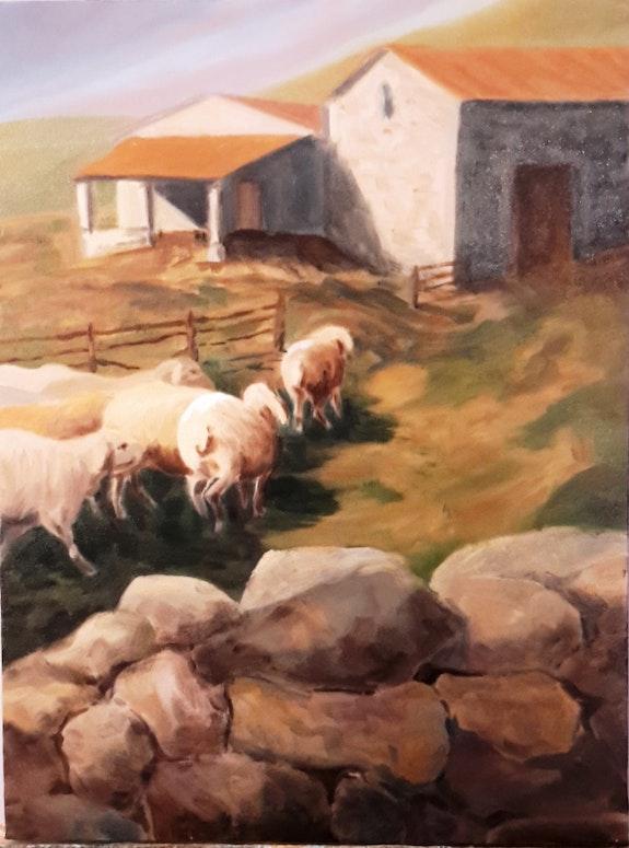 Retour des moutons - Provence. Jean-Pierre Dubreuil Jean-Pierre Dubreuil