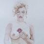Aquarelle Marilyn. Yokozaza