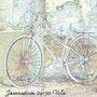 Old bike against a pylon. Jeanradium