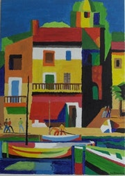 » Port de Saint Tropez ». Yves Decaudan