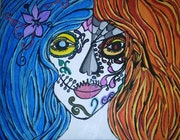 Two Faced Day Of The Dead Girl. Linda Mock