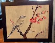 L'oiseau sur la branche.