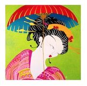 Geisha con paraguas. Macarena Olivera