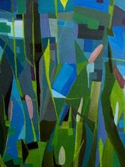 Herbes Folles, Acrylique sur toile. Christine Fric
