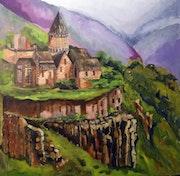 Monastery. Art By Alan